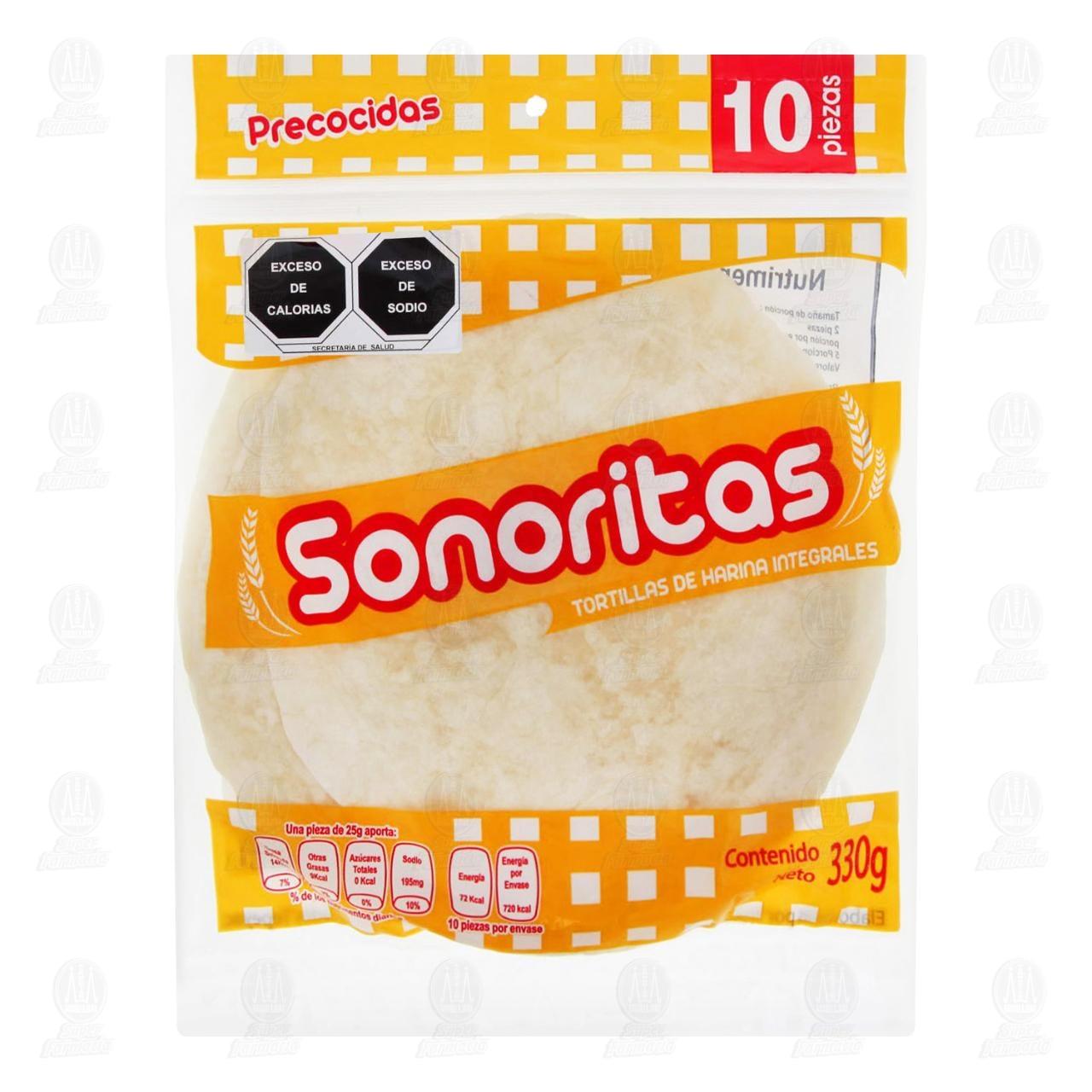 Tortillas Sonoritas de Harina, 330 gr.