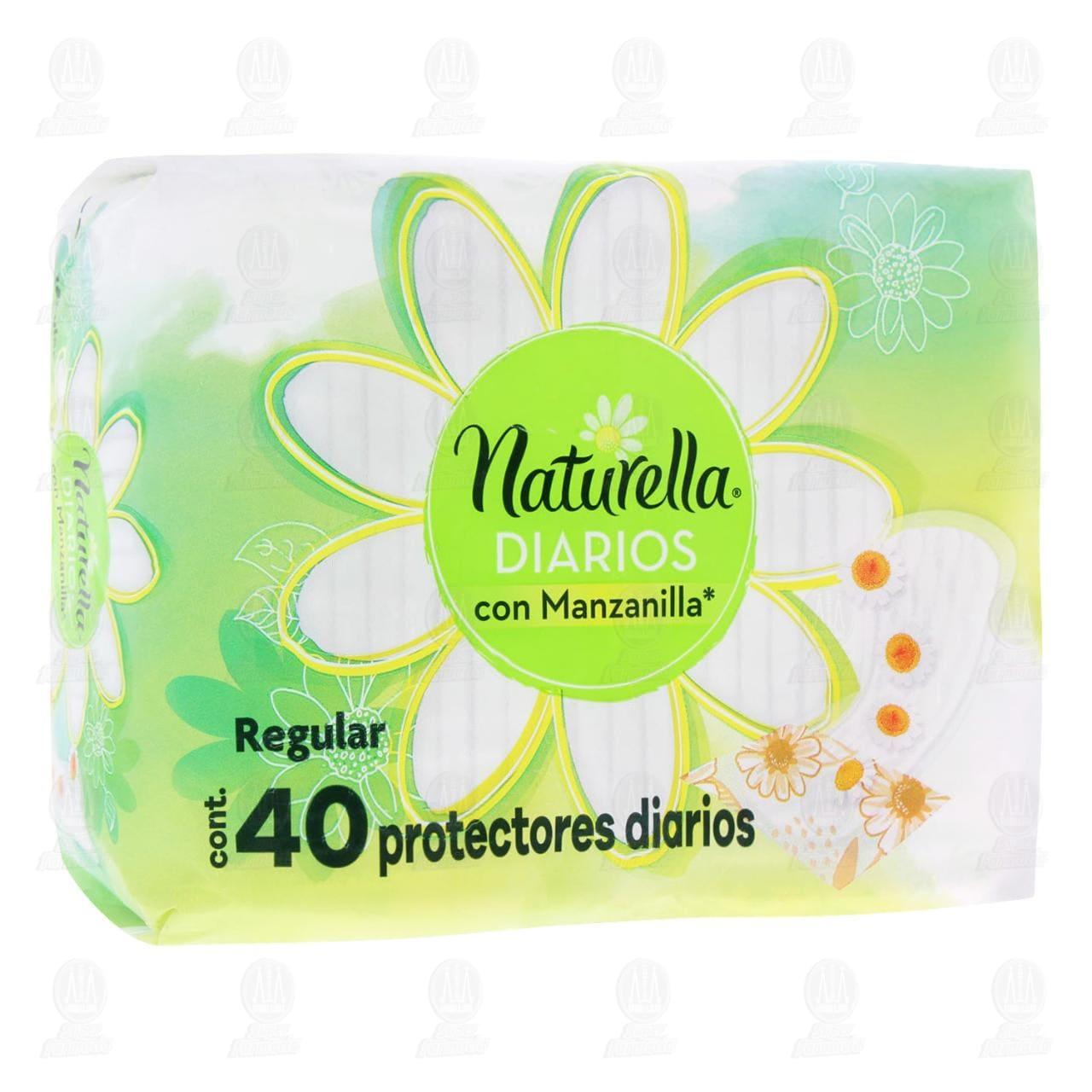 Comprar Protectores Naturella Diarios con Manzanilla, 40 pzas. en Farmacias Guadalajara