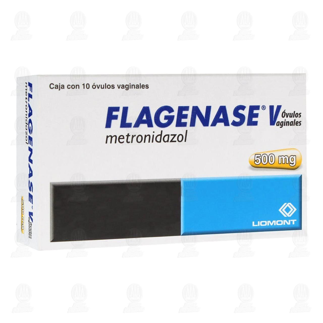 Comprar Flagenase V 500mg 10 Óvulos en Farmacias Guadalajara