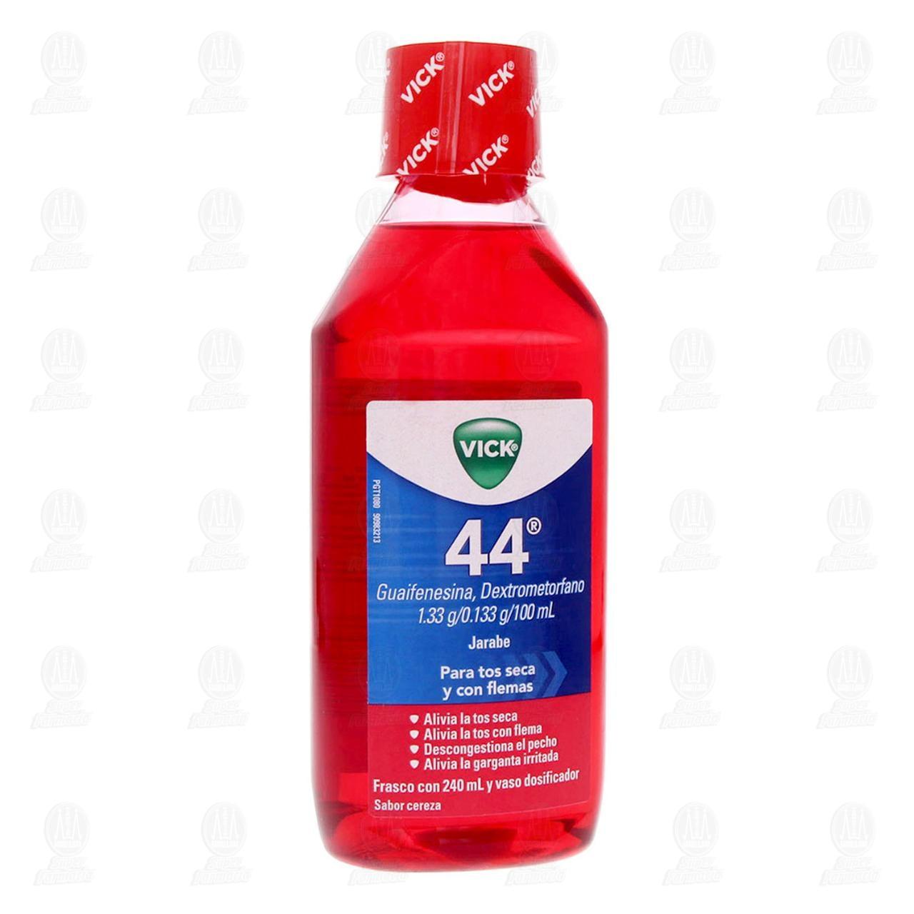 Comprar Vick 44 Jarabe Sabor Cereza 240ml en Farmacias Guadalajara