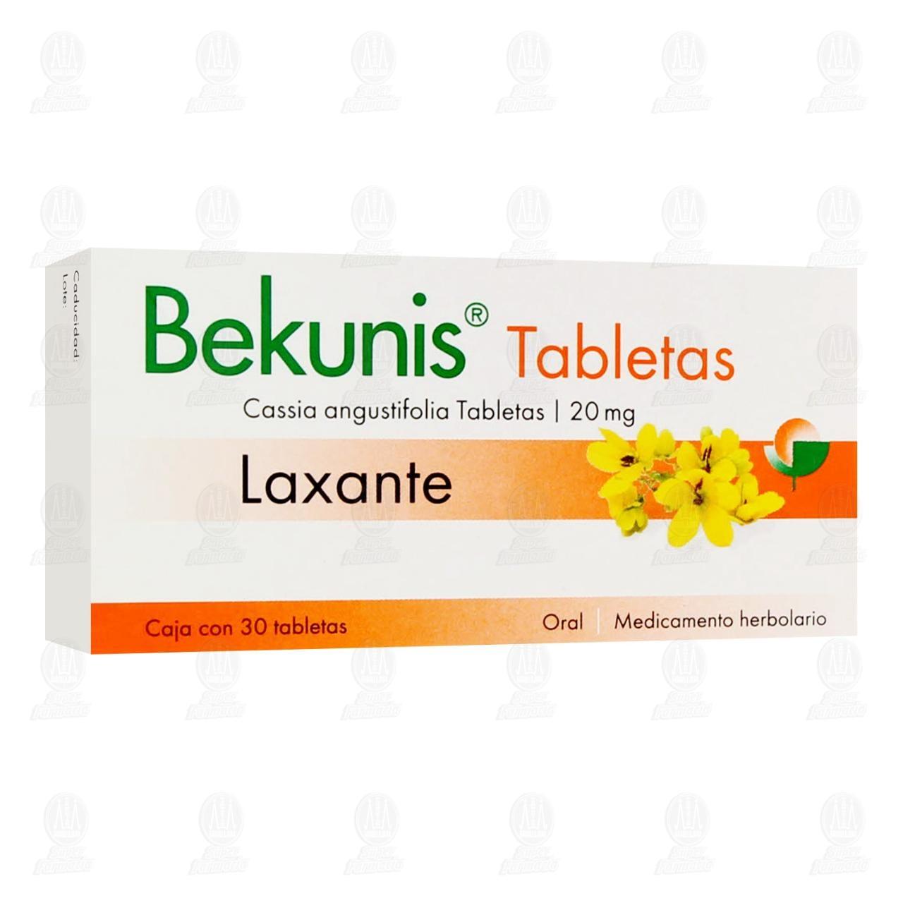 Comprar Bekunis 20mg 30 Tabletas en Farmacias Guadalajara