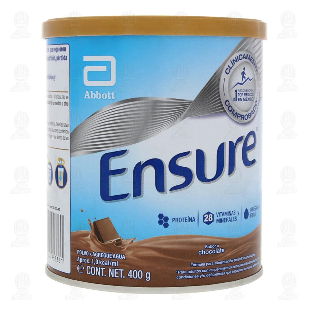Comprar Ensure Sabor Chocolate Polvo 400gr en Farmacias Guadalajara