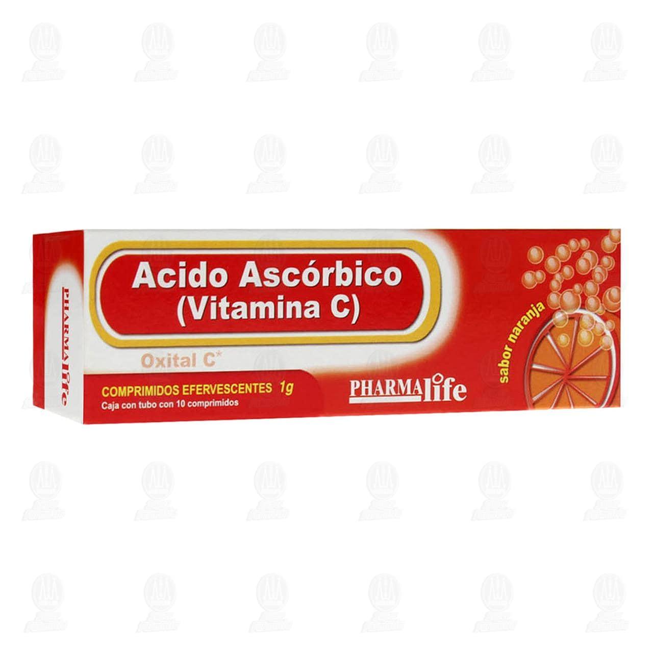 Comprar Ácido Ascórbico 1gr 10 Comprimidos Pharmalife en Farmacias Guadalajara