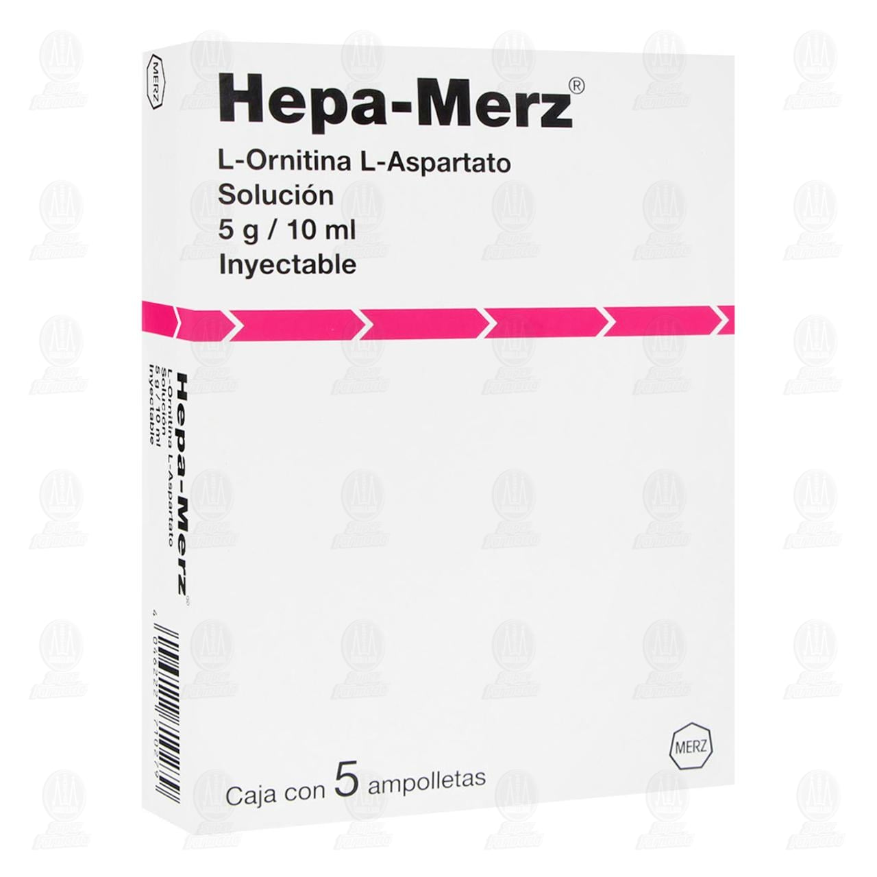 Comprar Hepa Merz 5g/10ml 5 Ampolletas Solución Inyectable en Farmacias Guadalajara