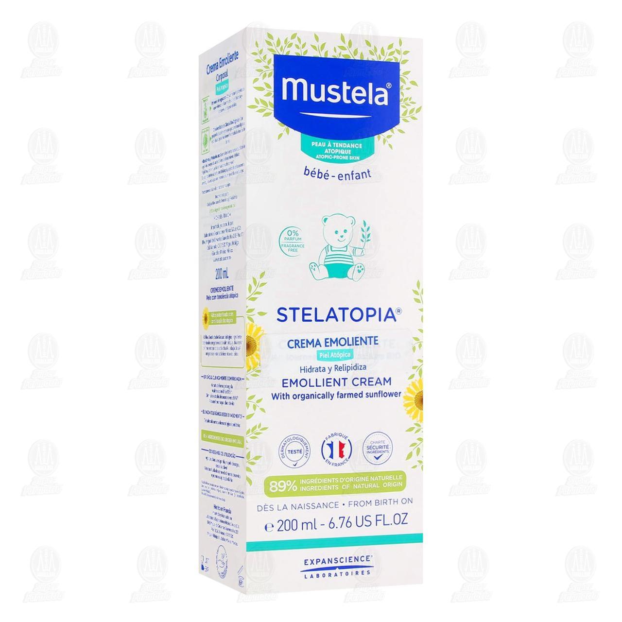 Comprar Crema Emoliente Mustela Stelatopia Hidrata y Relipidiza, 200 ml. en Farmacias Guadalajara