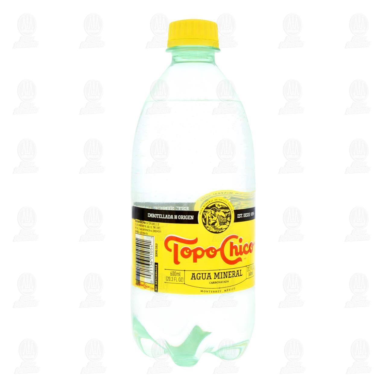 Agua Mineral Topo Chico, 600 ml.
