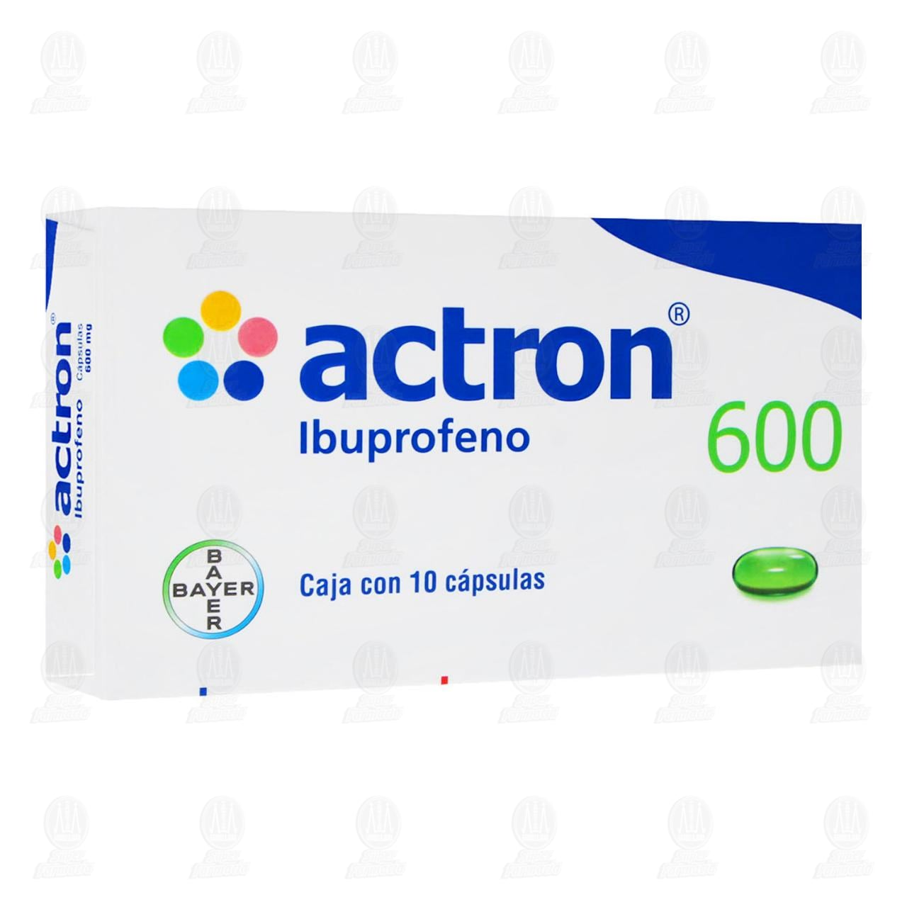 Actron 600 600mg 10 Cápsulas