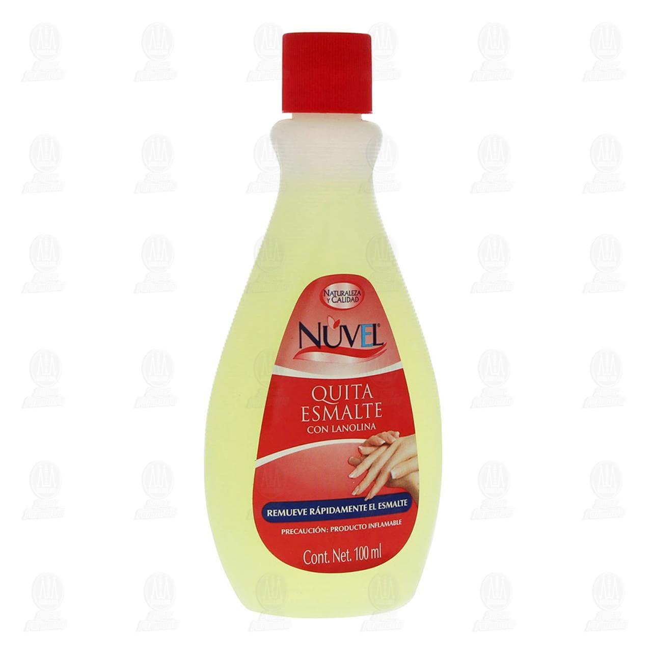Quitaesmalte Nuvel con Lanolina, 100 ml.
