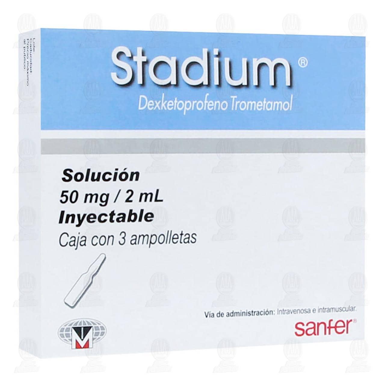 Comprar Stadium 50mg/2ml Solución Inyectable 3 Ampolletas en Farmacias Guadalajara