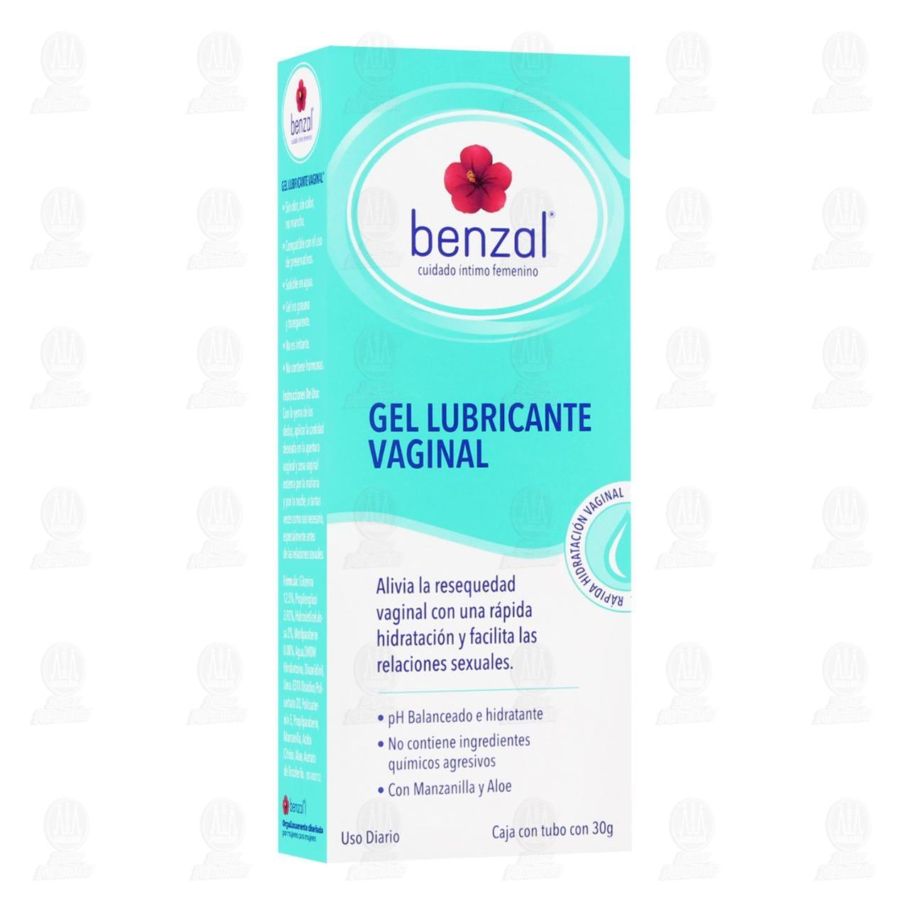 Gel Lubricante Vaginal Benzal Cuidado Íntimo Femenino, 30 gr.