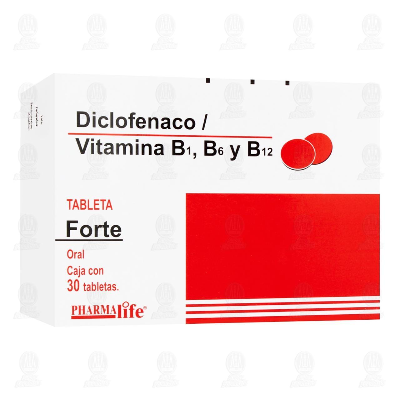 Comprar Diclofenaco Forte 30 Tabletas Pharmalife en Farmacias Guadalajara