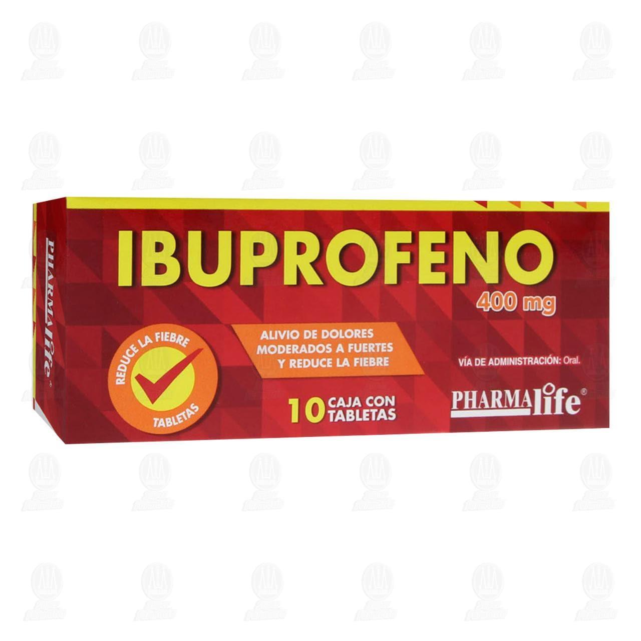 Comprar Ibuprofeno 400mg 10 Tabletas Pharmalife en Farmacias Guadalajara