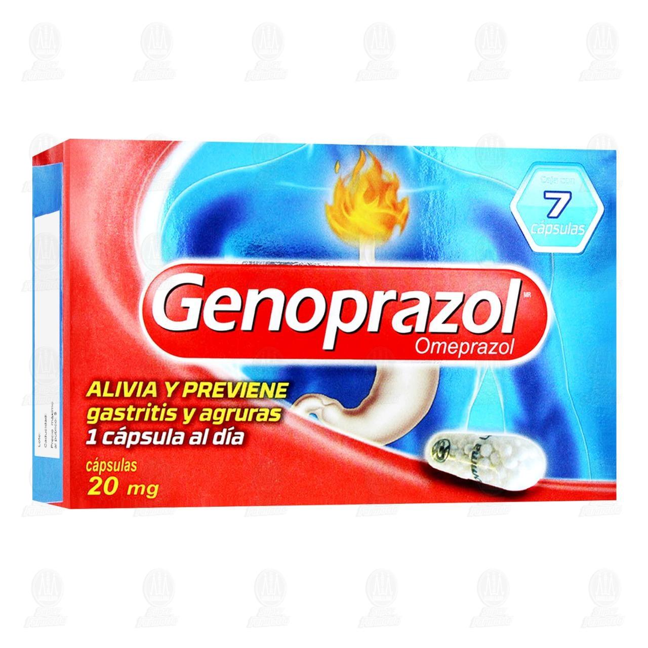 Comprar Genoprazol 20mg 7 Cápsulas en Farmacias Guadalajara