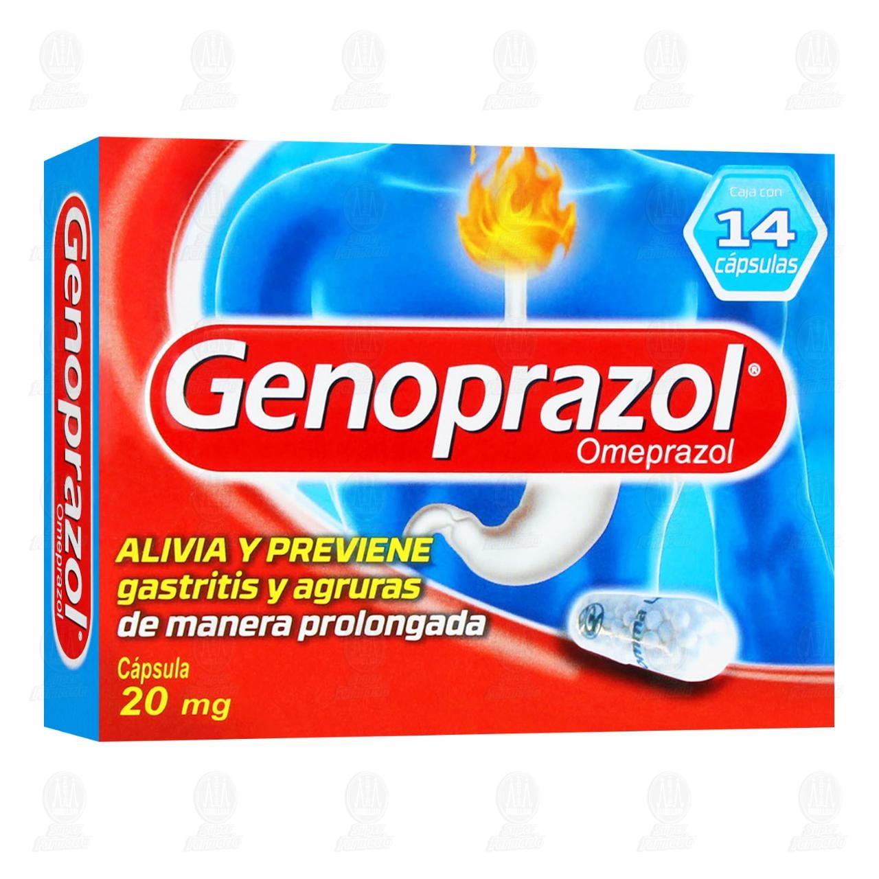 Comprar Genoprazol 20mg 14 Cápsulas en Farmacias Guadalajara
