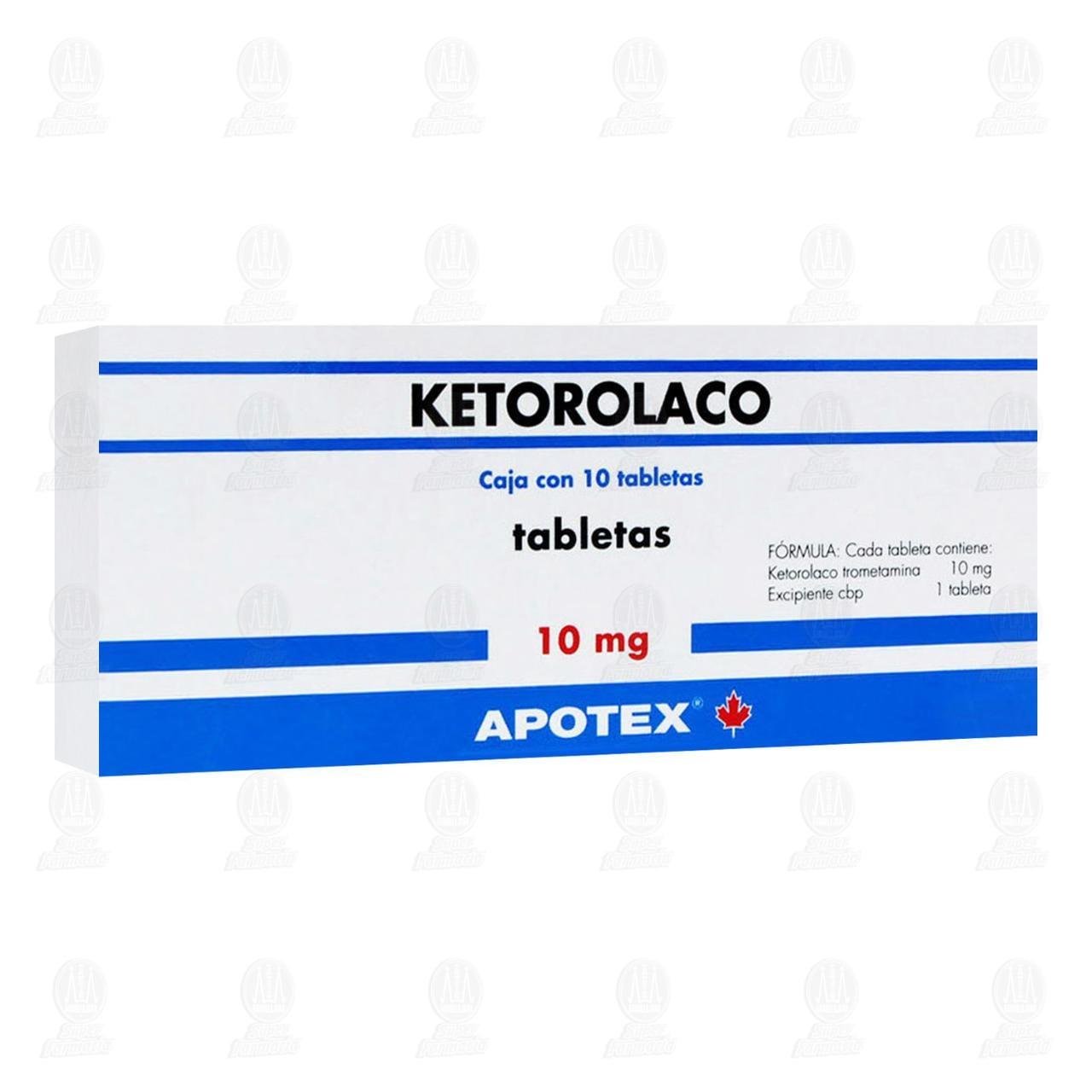 Comprar Ketorolaco 10mg 10 Tabletas en Farmacias Guadalajara