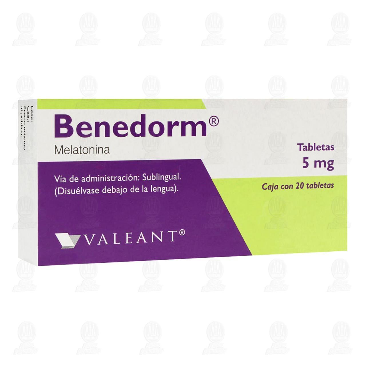 Comprar Benedorm 5mg 20 Tabletas Sublinguales en Farmacias Guadalajara