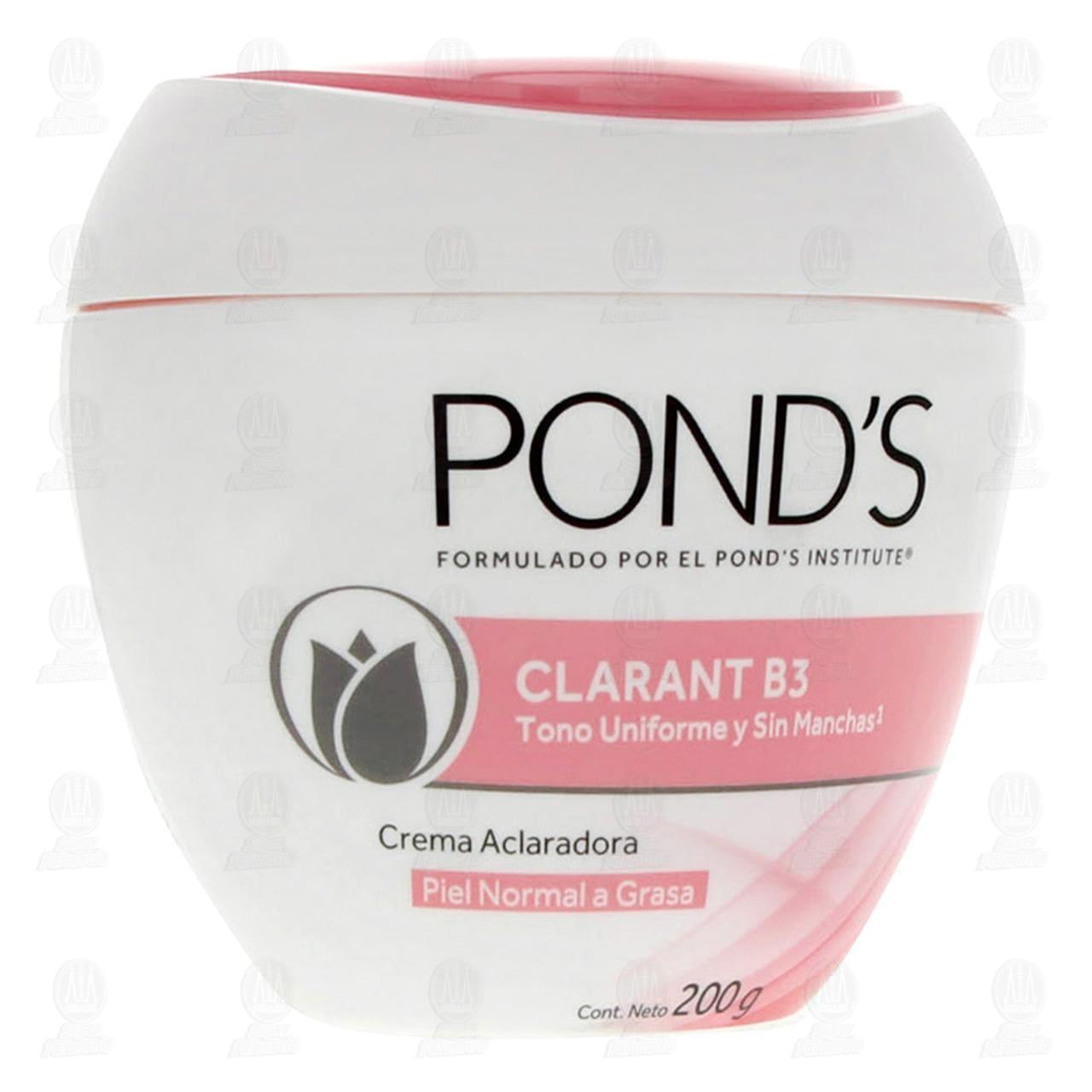 Comprar Crema Facial Pond's Clarant B3 para Piel Normal a Grasa, 200 gr. en Farmacias Guadalajara
