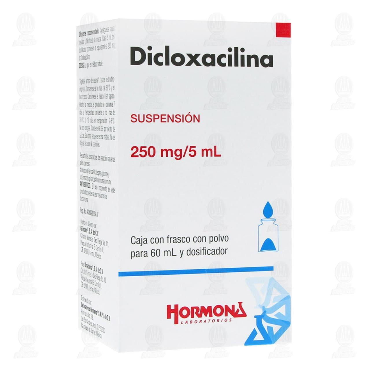 Comprar Dicloxacilina 250mg/5ml Suspensión 60ml con Polvo y Dosificador en Farmacias Guadalajara