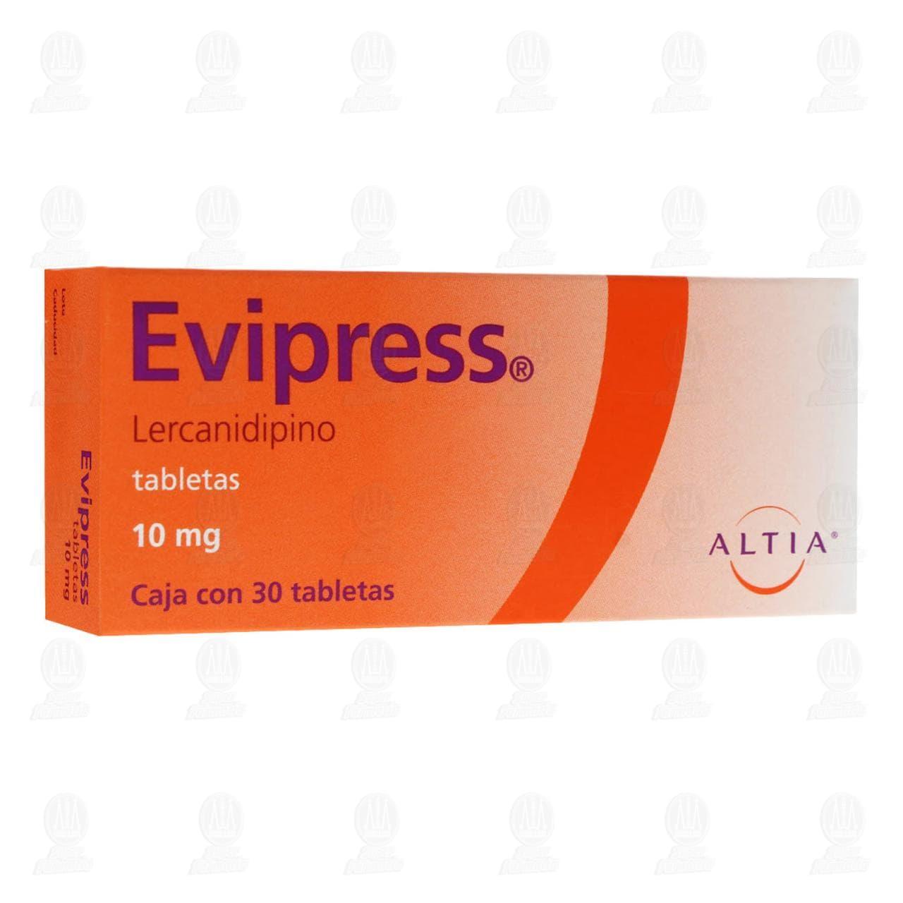 Comprar Evipress 10mg 30 Tabletas en Farmacias Guadalajara