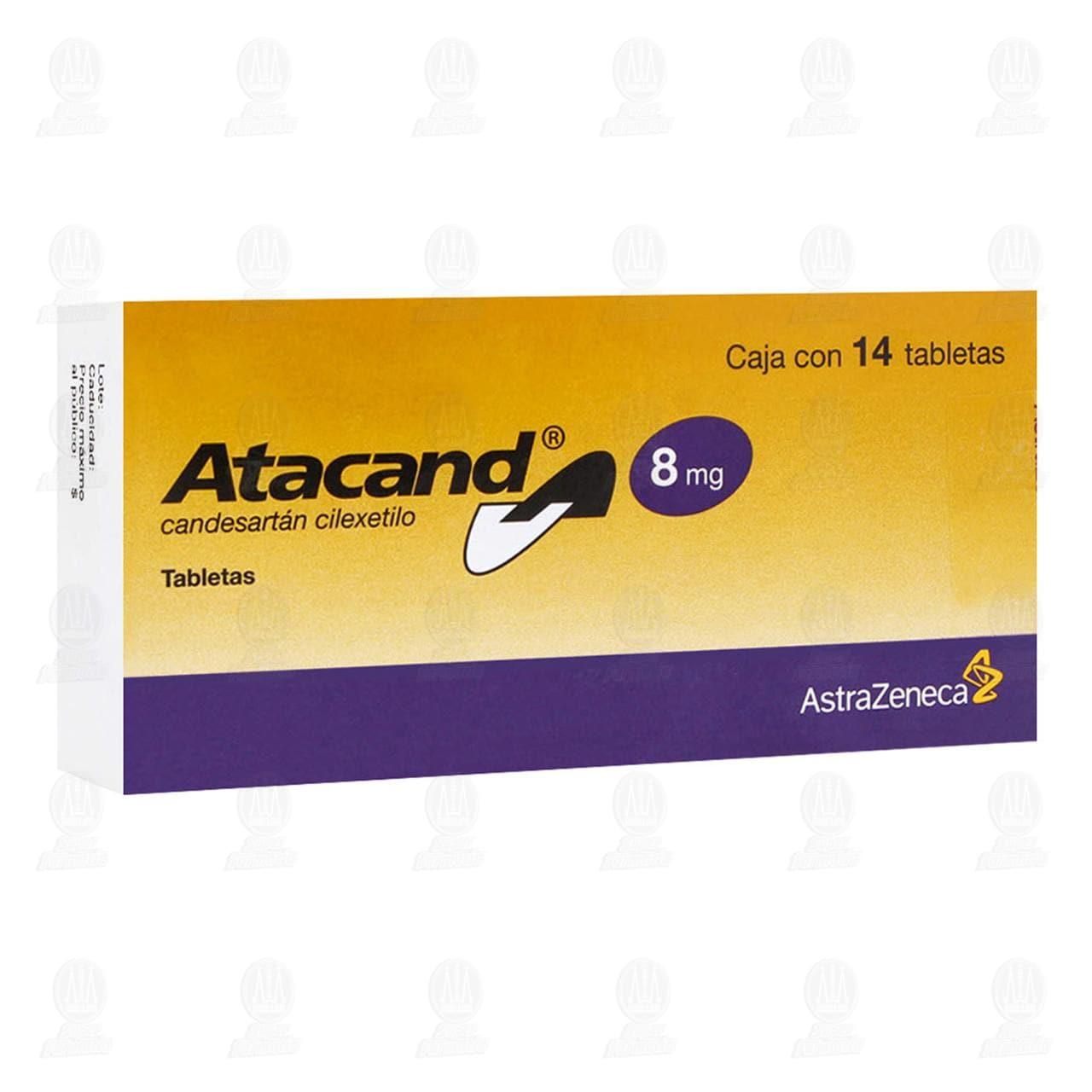 Comprar Atacand 8mg 14 Tabletas en Farmacias Guadalajara