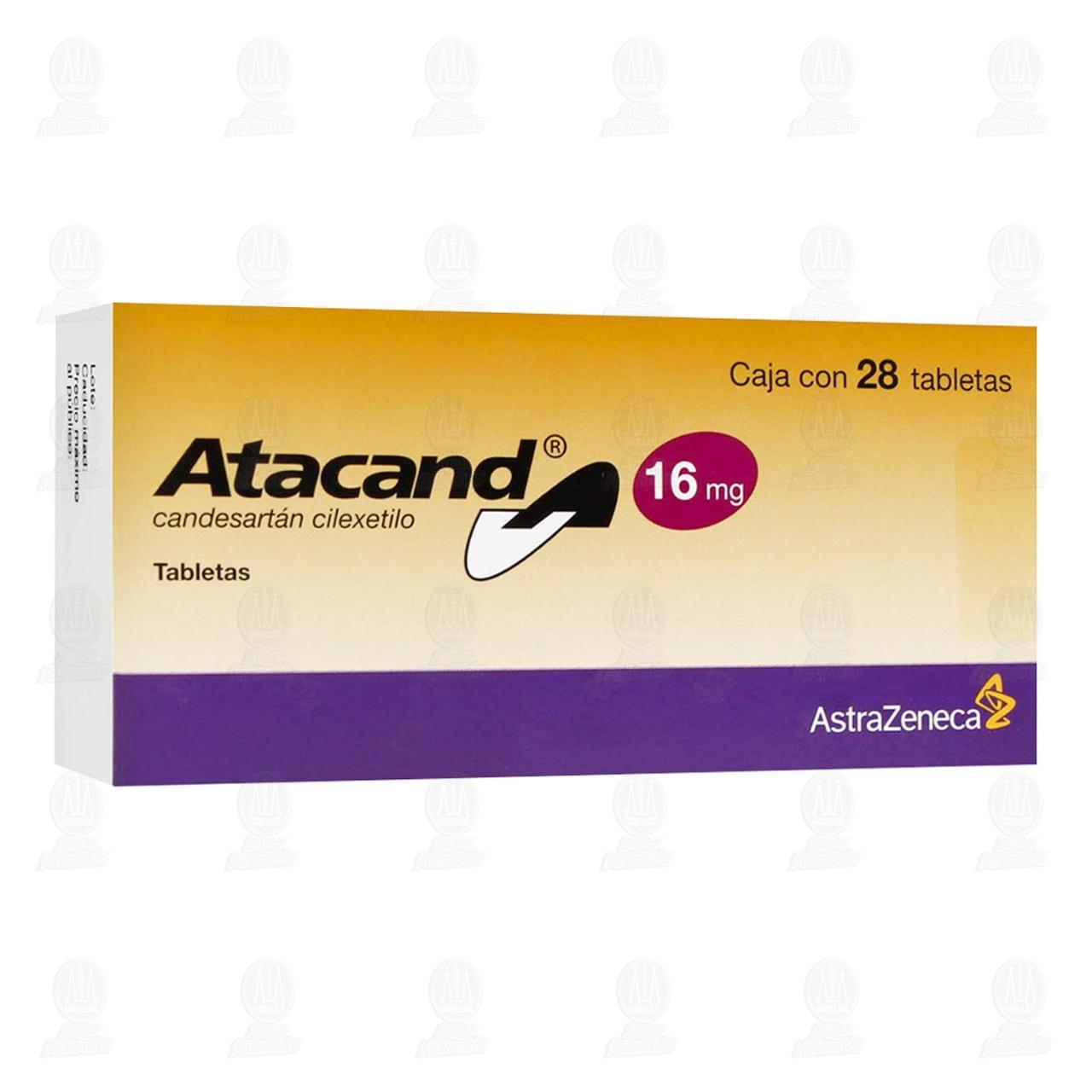 Comprar Atacand 16mg 28 Tabletas en Farmacias Guadalajara