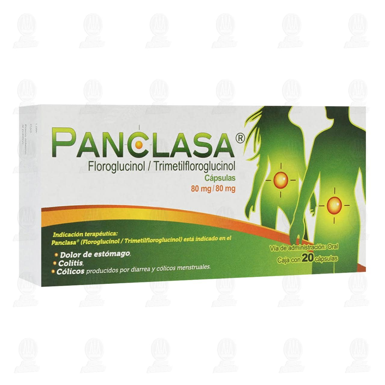 Comprar Panclasa 80mg/80mg 20 Cápsulas en Farmacias Guadalajara
