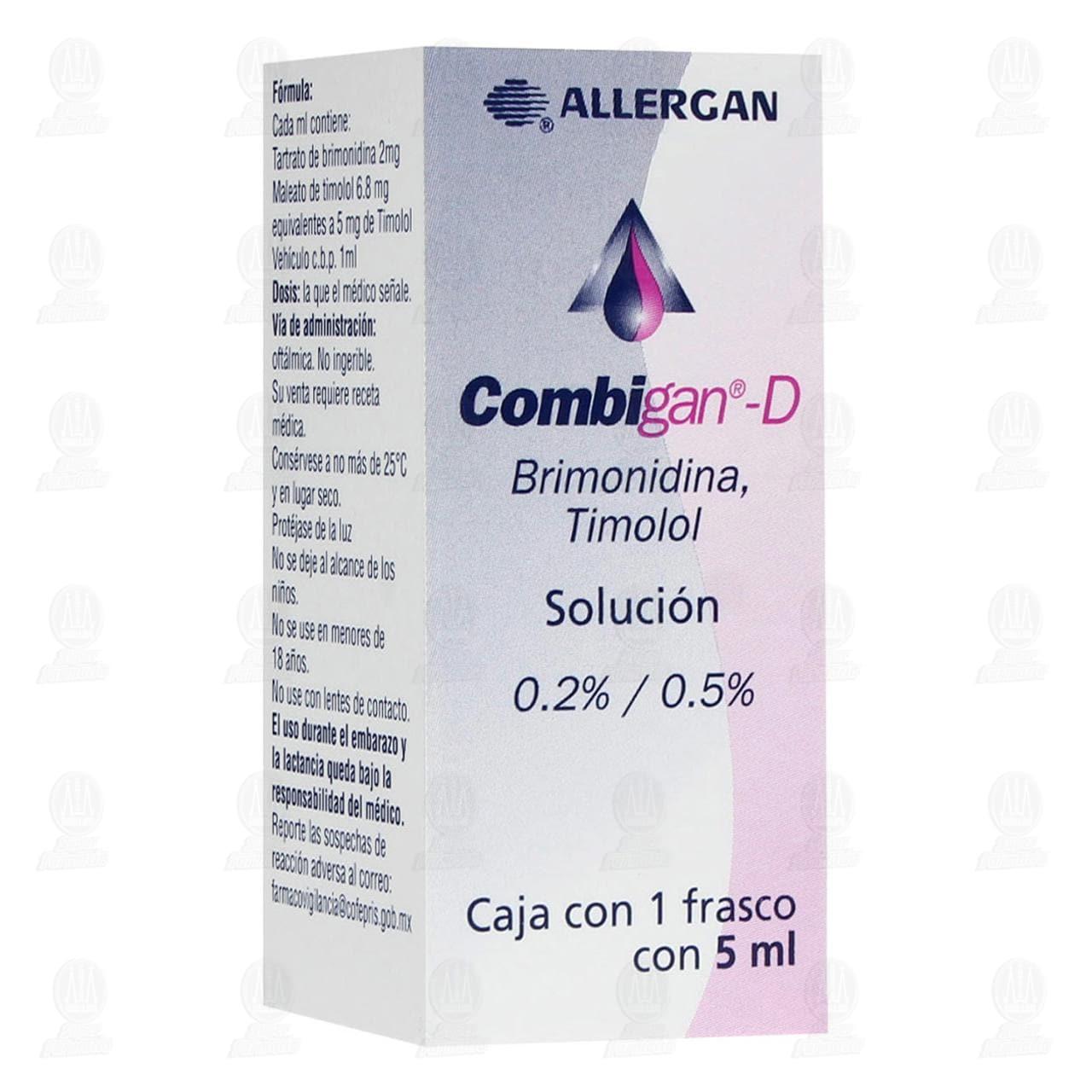 Comprar Combigan D 0.2/0.5% 5ml Solución Oftálmica en Farmacias Guadalajara