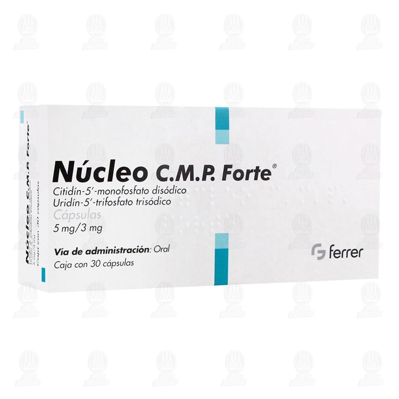 Comprar Núcleo C.M.P. Forte 5mg/3mg 30 Cápsulas en Farmacias Guadalajara