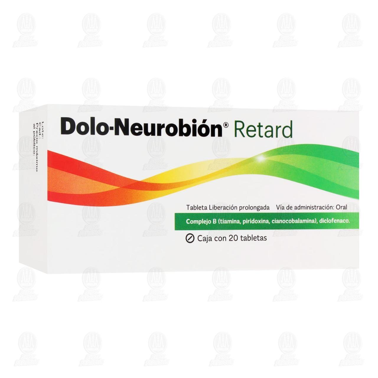 Comprar Dolo-Neurobión Retard 20 Tabletas en Farmacias Guadalajara