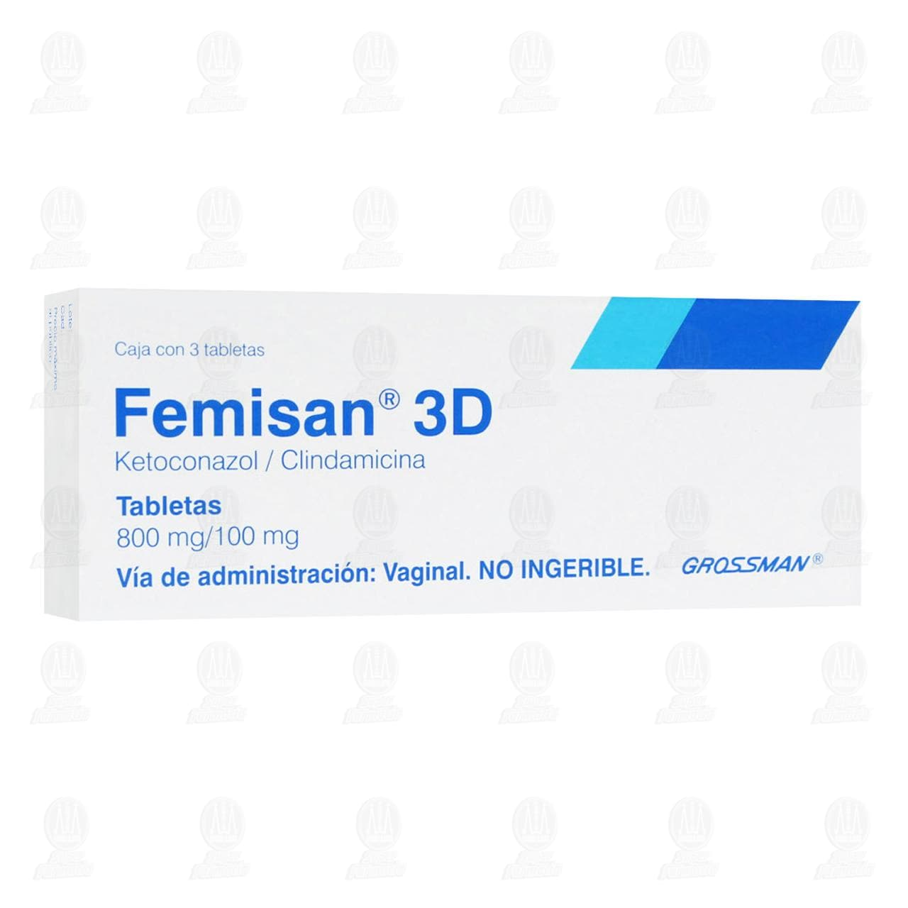 Comprar Femisan 3D 800mg/100mg 3 Tabletas en Farmacias Guadalajara